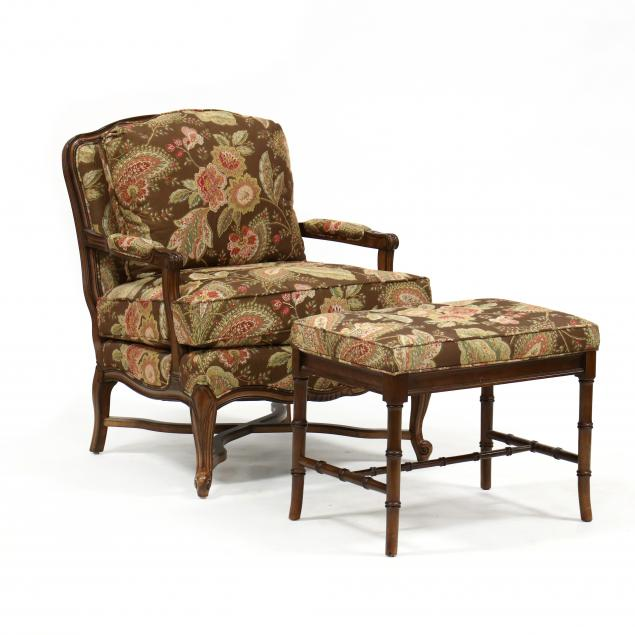 french-provincial-style-oversized-bergere-and-ottoman