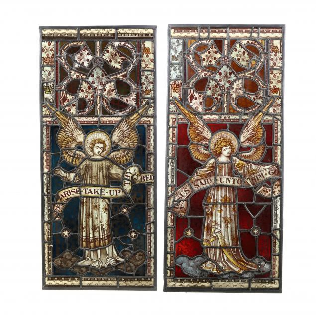 pair-of-ecclesiastical-stained-glass-windows