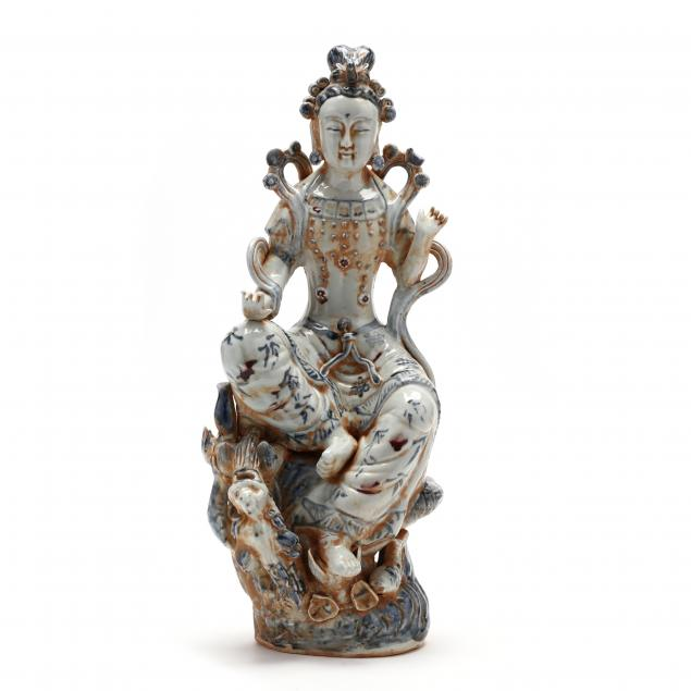 a-chinese-blue-and-white-porcelain-guanyin-sculpture