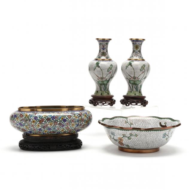 four-chinese-cloisonne-items