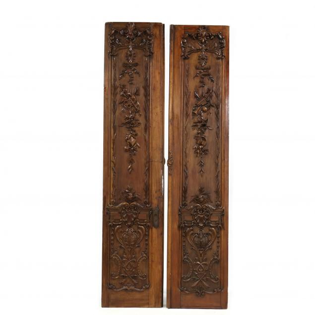 a-pair-of-louis-xv-style-antique-carved-walnut-tall-architectural-doors