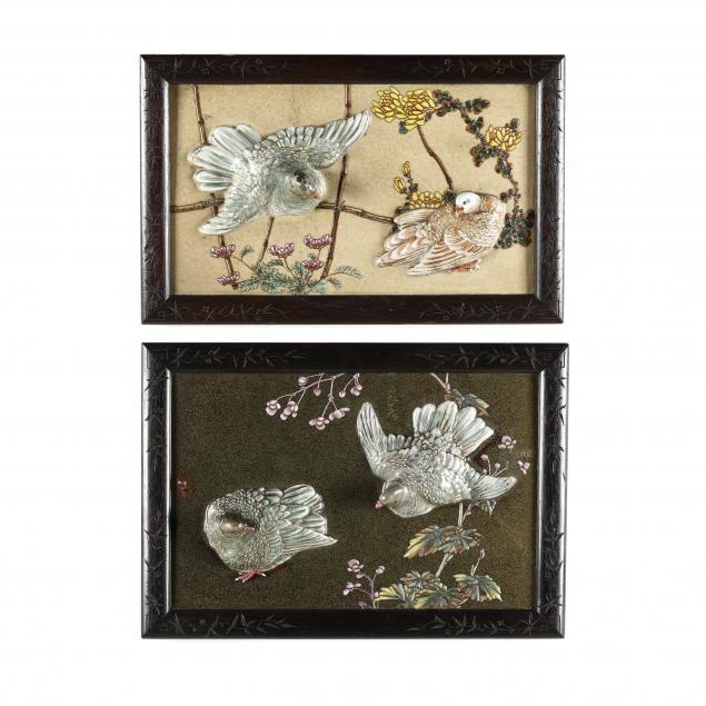 two-chinese-enamel-wall-plaques-with-birds