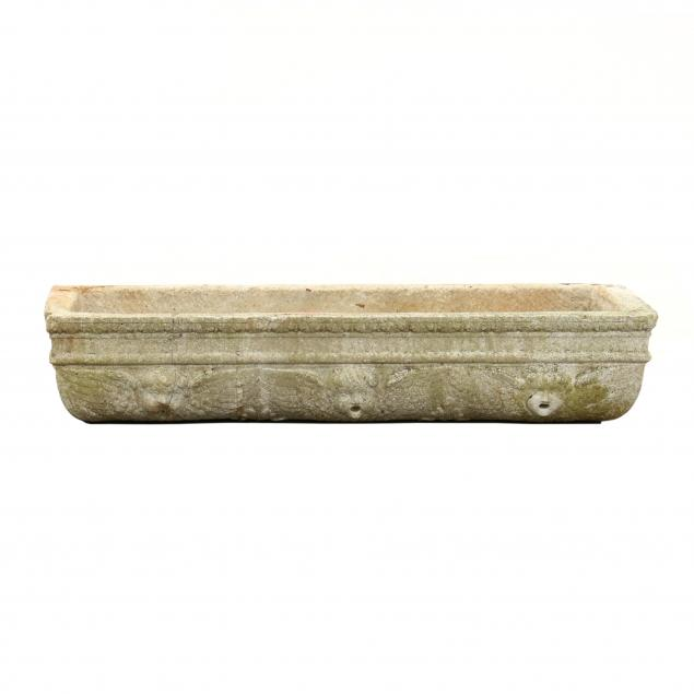 antique-continental-carved-marble-trough-form-fountain
