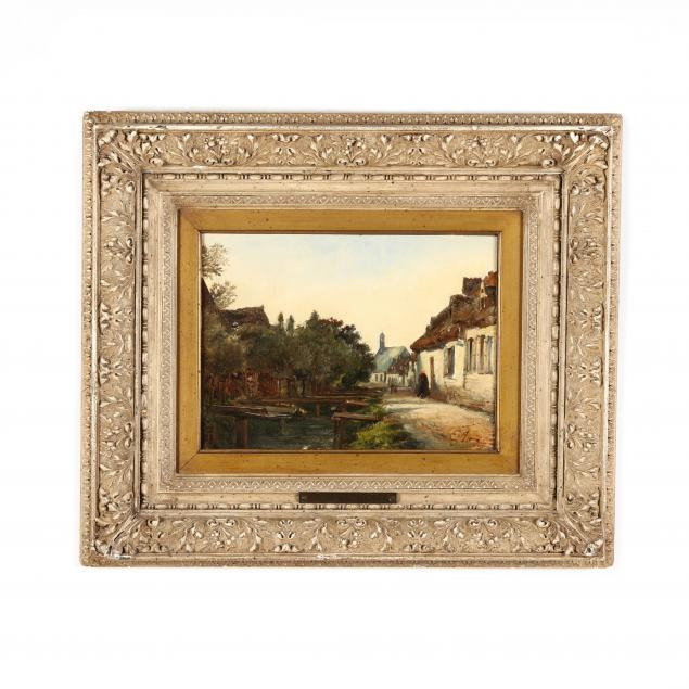 euguene-isabey-french-1803-1886-village-canal