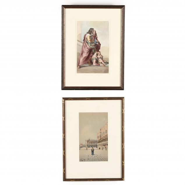 two-antique-italian-school-watercolors