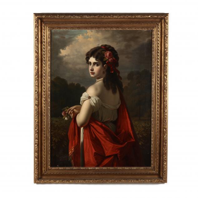 austrian-school-19th-century-woman-in-red