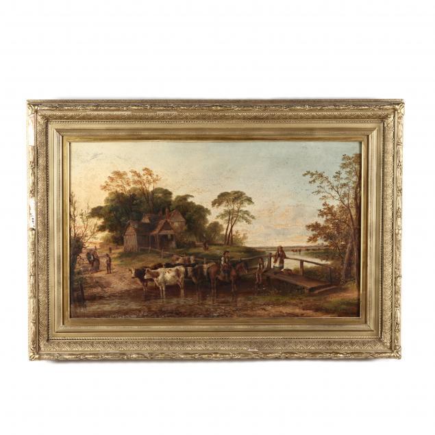edmund-aylburton-willis-american-1808-1899-fording-the-herd