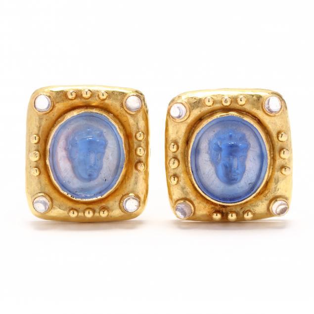 18kt-gold-venetian-glass-intaglio-and-moonstone-earrings-elizabeth-locke