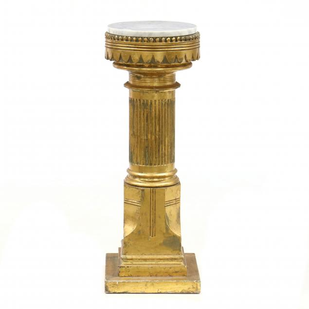 neoclassical-style-gilt-marble-top-pedestal