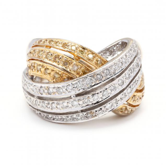 bi-color-gold-and-gem-set-bypass-ring