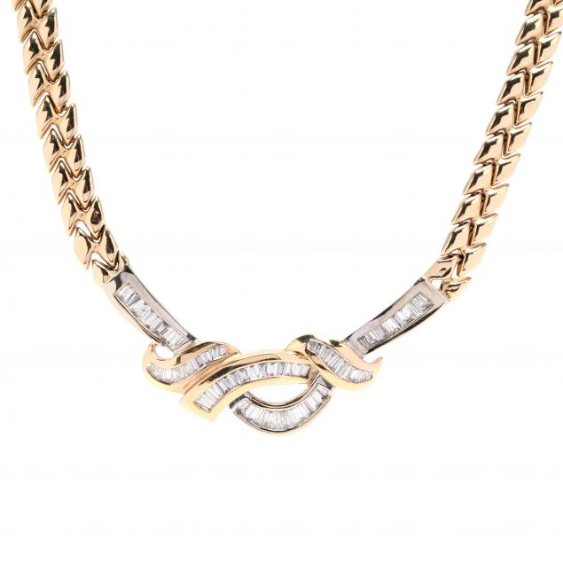 bi-color-gold-and-diamond-necklace