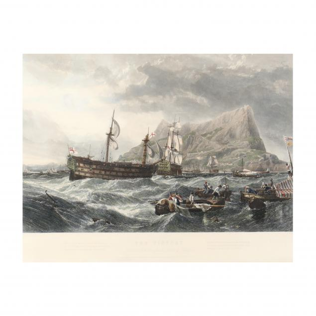 after-clarkson-stanfield-british-1793-1867-i-the-victory-towed-into-gibraltar-after-the-battle-of-trafalgar-i
