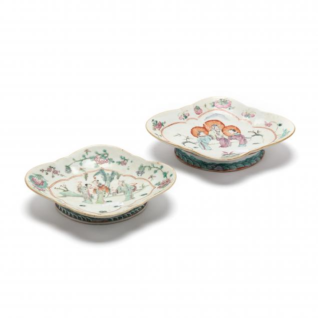 two-chinese-porcelain-oblong-quatrefoil-footed-dishes