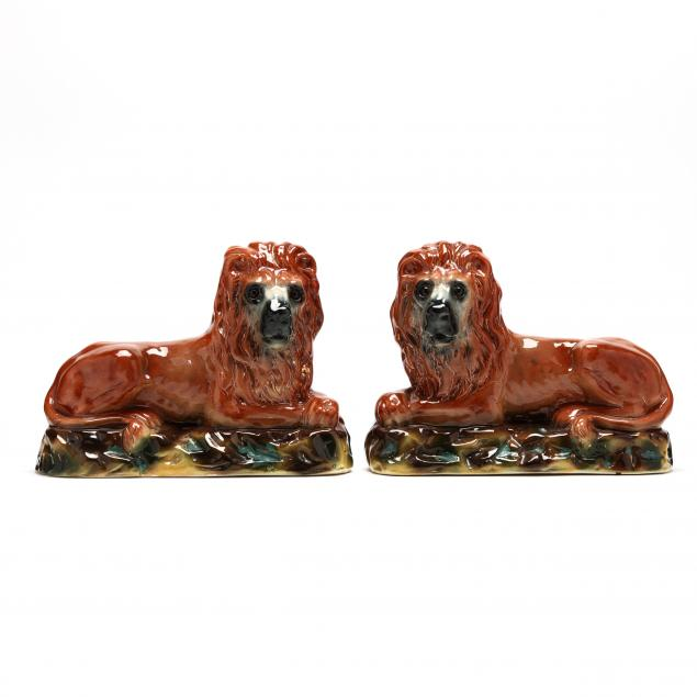 pair-of-staffordshire-lions