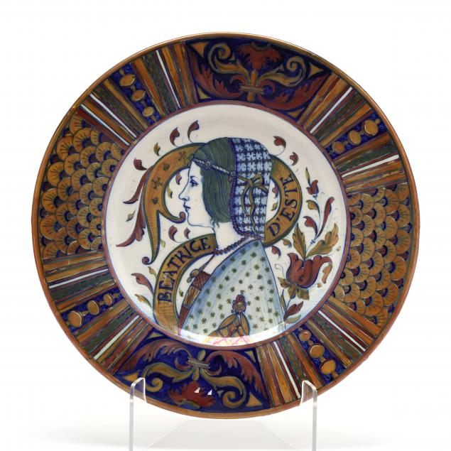 italian-faience-luster-charger-portrait-of-beatrice-d-este