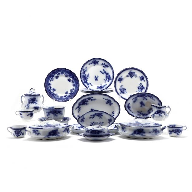 a-group-of-english-flow-blue-tableware-35-pieces-total