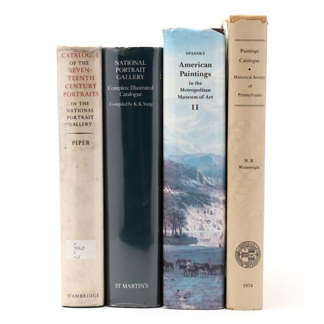 four-american-and-british-museum-catalogues-of-fine-art-holdings