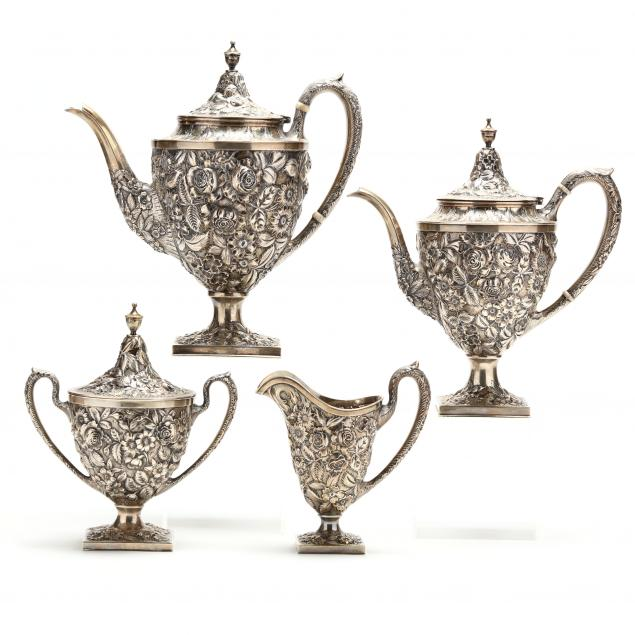 four-piece-baltimore-repousse-sterling-silver-tea-and-coffee-service