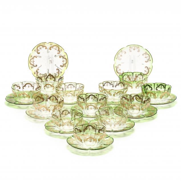 twenty-four-pieces-of-continental-gilt-glass-dishware
