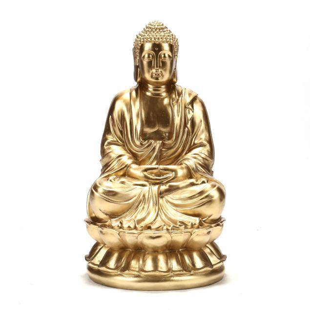 contemporary-large-gilt-seated-buddha