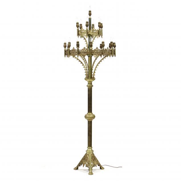 ecclesiastical-large-gilt-brass-floor-candelabra