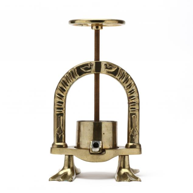 french-solid-brass-duck-press
