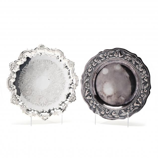 two-vintage-silverplate-trays