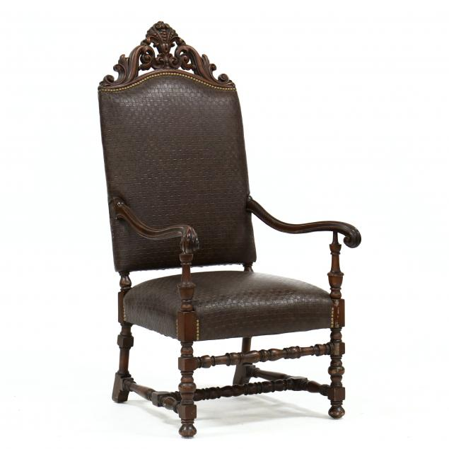 spanish-style-carved-walnut-great-chair