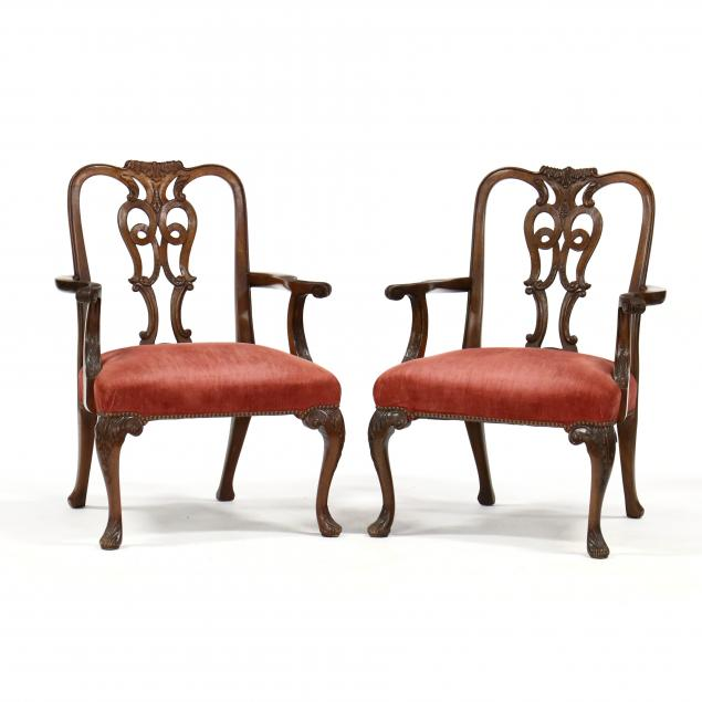 pair-of-george-ii-style-carved-mahogany-arm-chairs