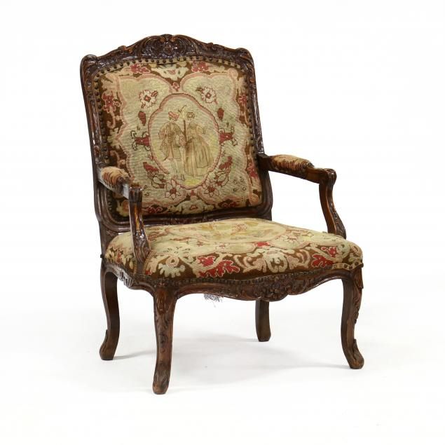 antique-louis-xv-style-carved-fauteuil