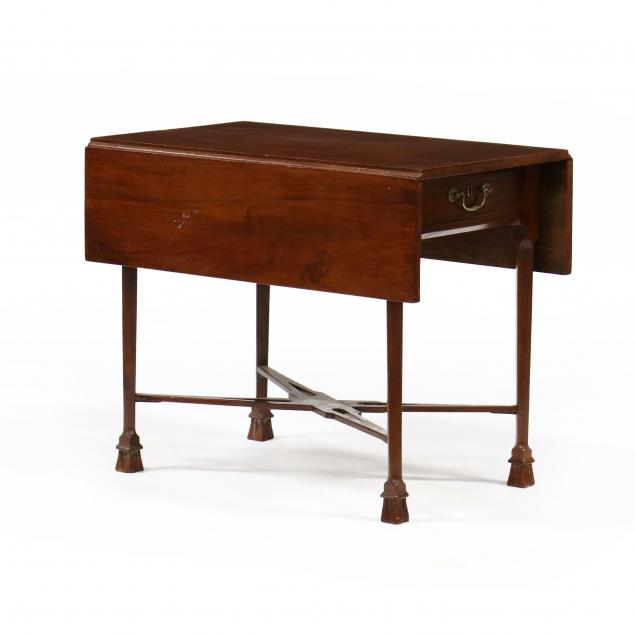 american-chippendale-mahogany-drop-leaf-breakfast-table