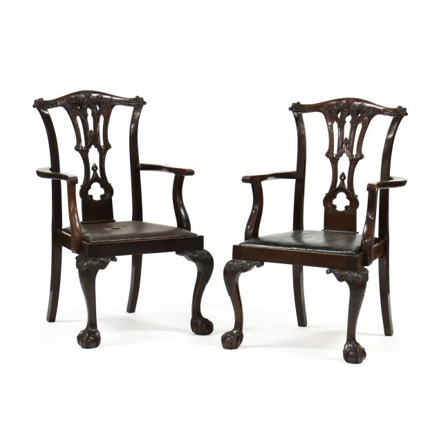 pair-of-antique-english-chippendale-style-carved-mahogany-armchairs