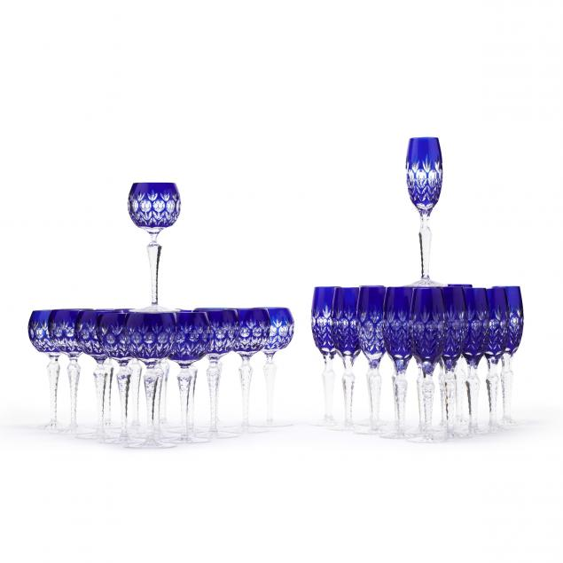 set-of-thirty-one-cobalt-cut-to-clear-stems