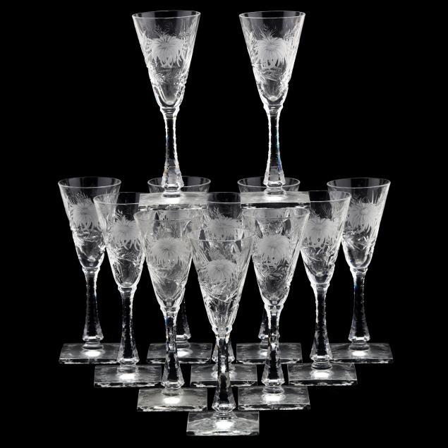 hawkes-set-of-twelve-i-chrysanthemum-i-sweet-wine-stems