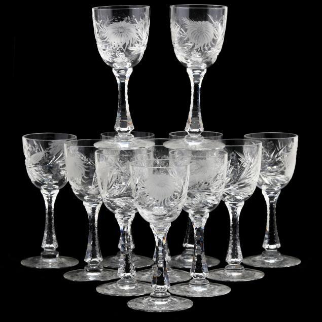 hawkes-set-of-twelve-i-chrysanthemum-i-wine-goblets