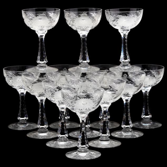 hawkes-set-of-13-i-chrysanthemum-i-champagne-coupes