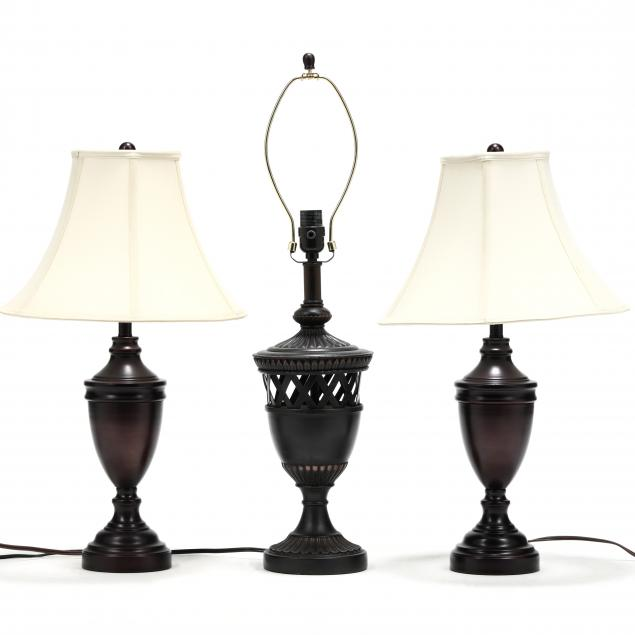 three-contemporary-classical-style-table-lamps