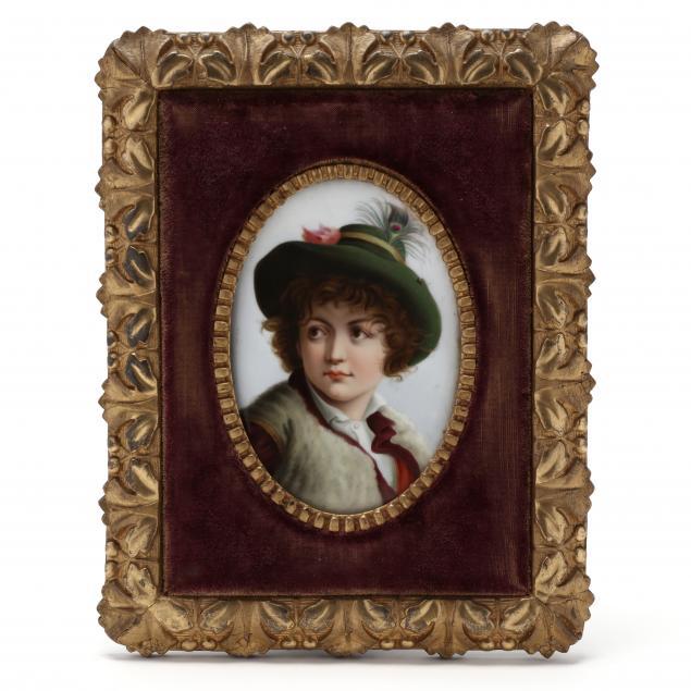 a-continental-porcelain-portrait-plaque-of-a-young-lady
