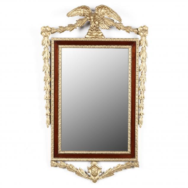 a-georgian-style-mahogany-parcel-gilt-wall-mirror
