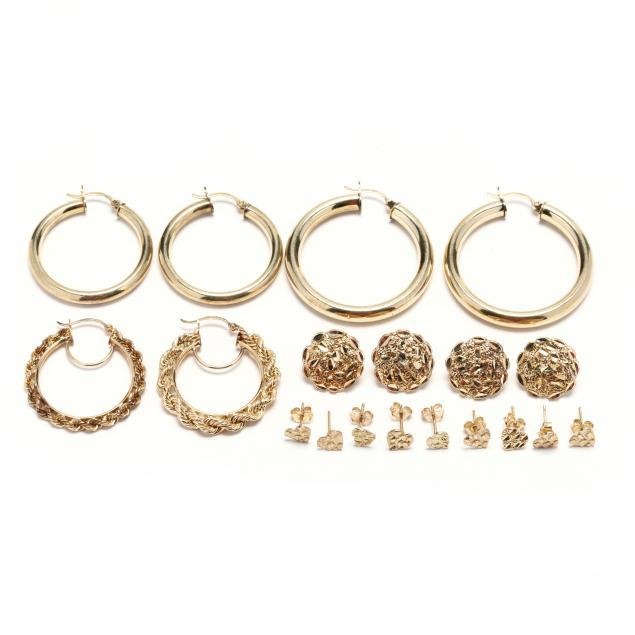 group-of-10kt-gold-earrings