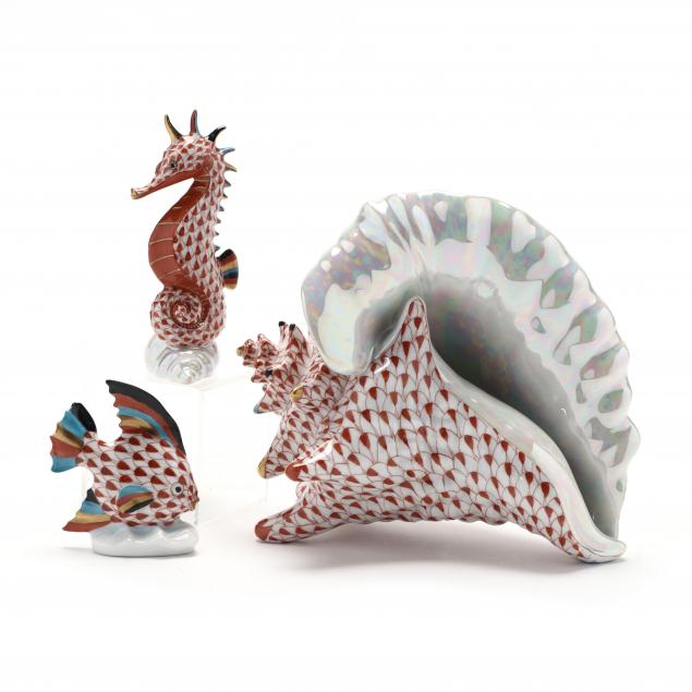 three-herend-porcelain-i-sea-life-collectibles-i