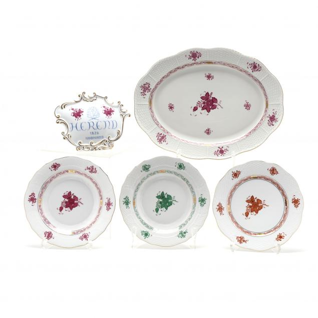 five-herend-porcelain-items-i-chinese-bouquet-i-pattern