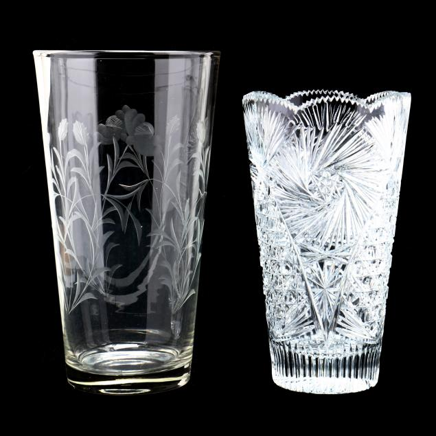 two-cut-crystal-vases