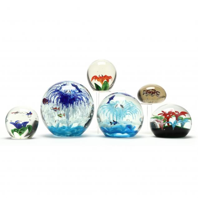 a-grouping-of-art-glass-paperweights