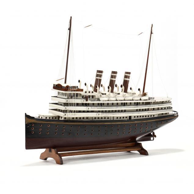 large-vintage-model-of-a-steamship