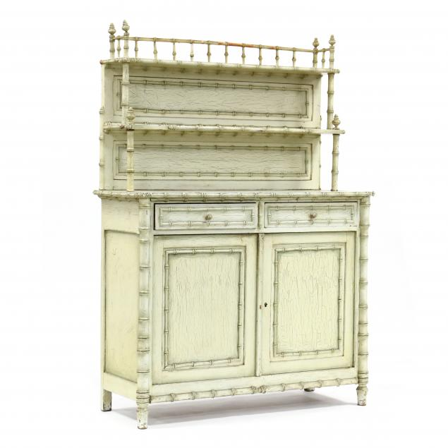 antique-continental-faux-bamboo-buffet