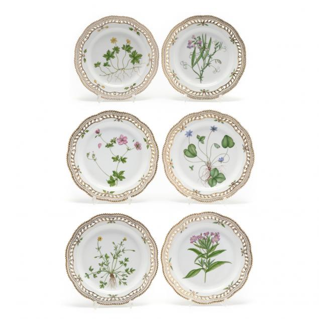 a-group-of-six-royal-copenhagen-i-flora-danica-i-plates