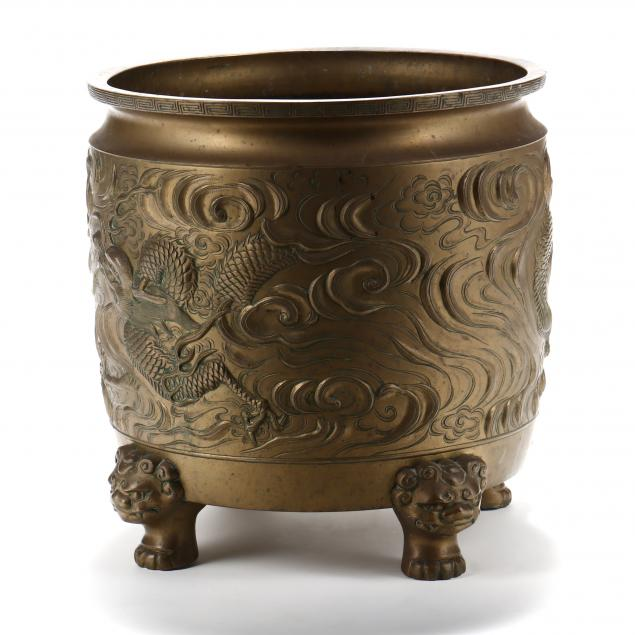a-large-chinese-bronze-dragon-jardiniere