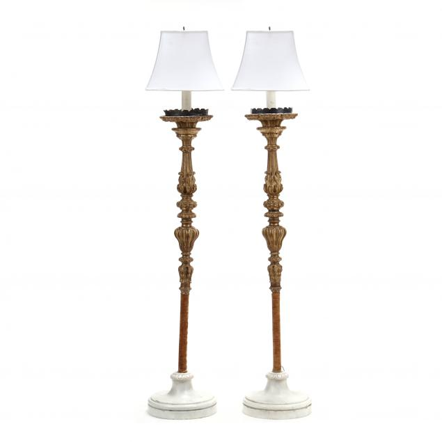 pair-of-antique-venetian-gilt-wood-and-marble-torchieres