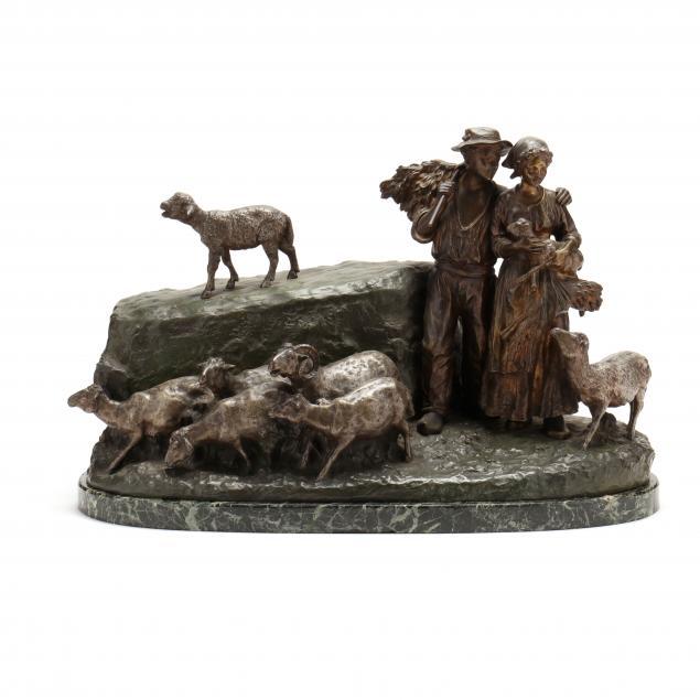 giuseppe-d-aste-french-italian-1881-1945-bronze-shepherd-genre-scene